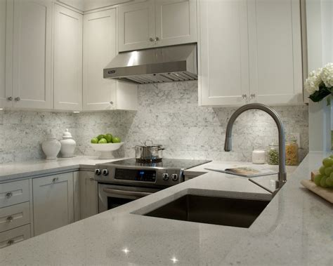 White Kitchen Cabinets And White Countertops White Granite Countertops Transitional Kitchen Deslaurier Custom Cabinets