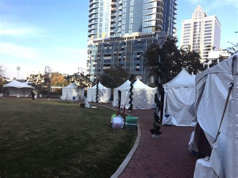 shop at charlotte christmas village opens at romare bearden park