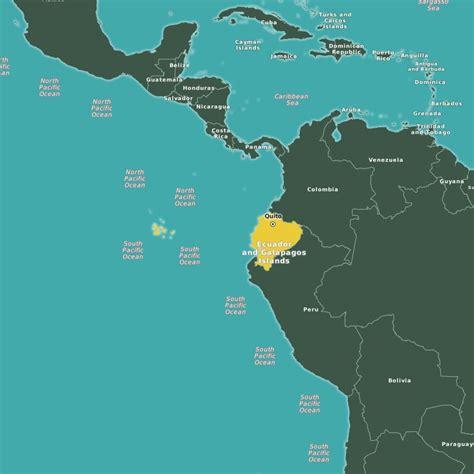 galapagos ecuador turismo mapa