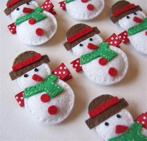 moldes de adornos fieltro para arbol moldes mu 241 ecos de nieve con fieltro para navidad