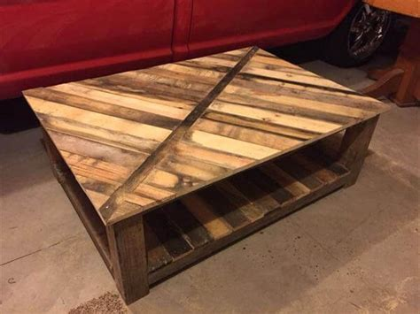 Diy Recycled Pallet Coffee Table 101 Pallets Recycled Coffee Table