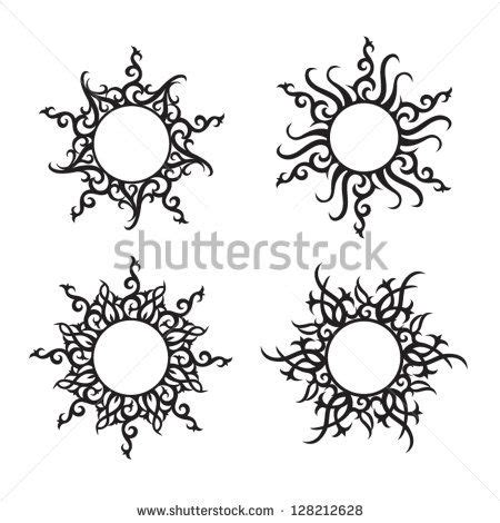 tribal tattoos klein 25 best ideas about sun tattoos on sun moon