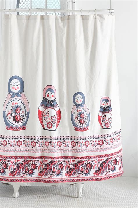 Russian Shower by Russian Doll Shower Curtain Matryoshka Babushka Doll