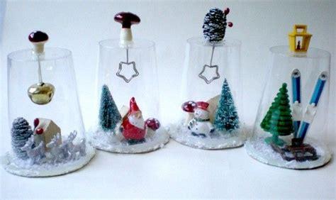bicchieri decorati per natale cane natalizie con materiale riciclato il tutorial