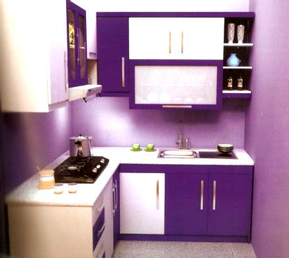 desain dapur kecil warna ungu warna yang cocok untuk dapur sempit minimalis dekorasi