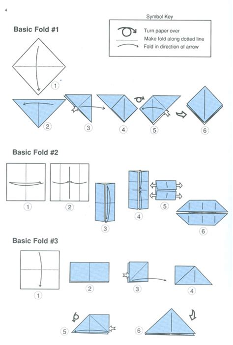 Basics Of Origami - image gallery origami folds