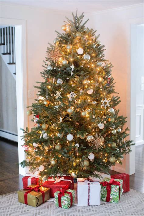how to hang christmas tree string lights popsugar home