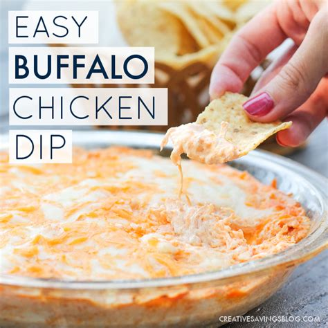 simple buffalo chicken dip 30 minutes only 5 ingredients