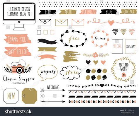 design elements blog ultimate design elements blog kit your stock vector