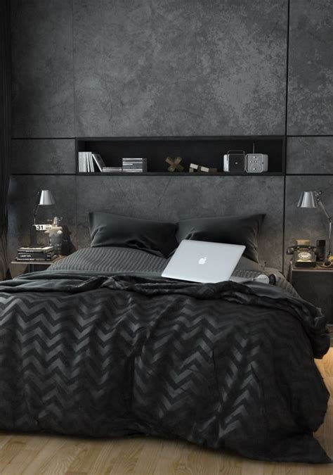 masculine bedding black bachelor pad bedroom ideas