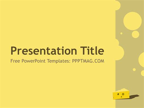 powerpoint recipe template free cheese powerpoint template pptmag