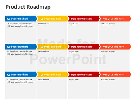 Product Roadmap Powerpoint Template Editable Ppt Technology Roadmap Template Ppt Free