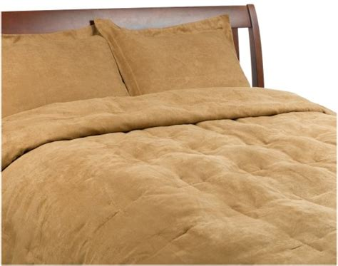 microsuede king comforter microsuede feather king comforter set camel 65 80