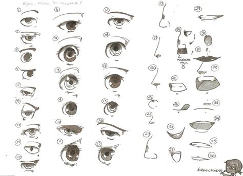 anime eyes nose eyes noses and mouths by hikaru chan649 deviantart com