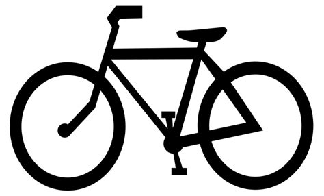 bike clip bicycle clipart outline pencil and in color bicycle