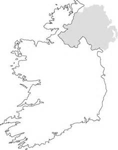 Ireland Blank Map by Ireland Outline Map
