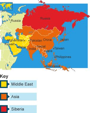 middle east map colored bitesize ks3 geography development revision 5