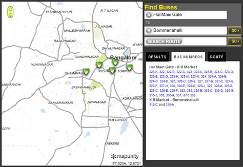 sree   bmtc btis bus route numbers search route search maps transit planner
