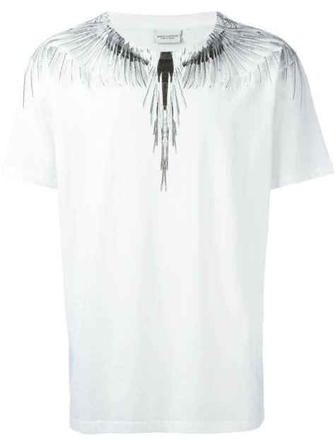 Marcelo White lyst marcelo burlon wing print t shirt in white for