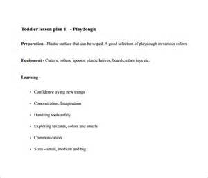 toddler lesson plan template toddler lesson plan template 10 free word excel pdf