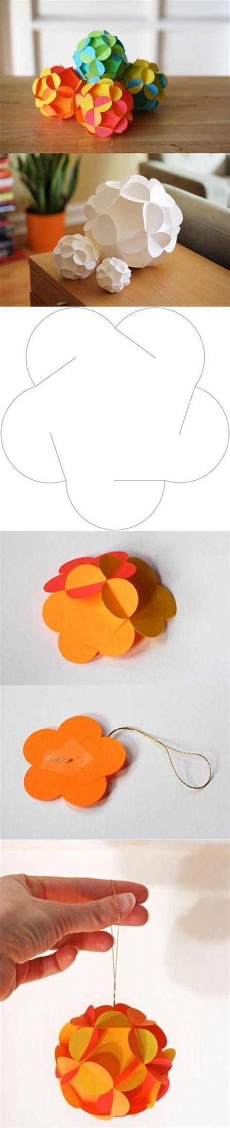 Beautiful Paper Craft - decorate your tree with beautiful diy paper