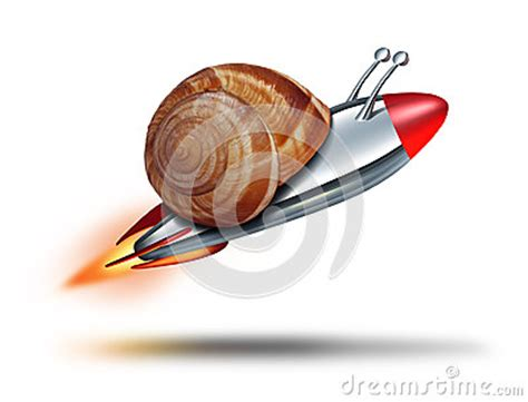 fast snail stock photography image