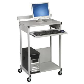 stand up computer desk on wheels mobile computer carts stand up computer desk
