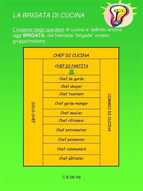 brigata di cucina ppt la brigata di cucina l insieme degli operatori di
