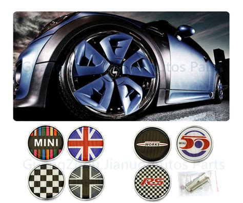 Tempelan Emblem Badge Mini Enkei car styling emblem sticker mini cooper emblem badge logo decal sticker front grill metal for