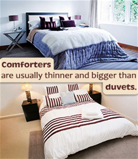 difference between a comforter and duvet what s the difference between a snug duvet and a cozy