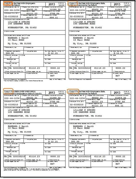 w2 template 2013 how to fill out and print w2 forms