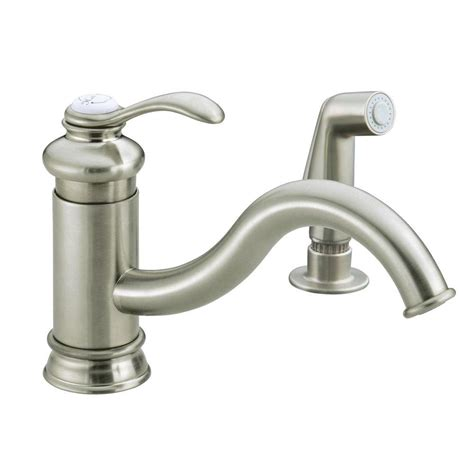 kitchen faucets for less kohler fairfax single handle standard kitchen faucet with sidespray and less escutcheon in