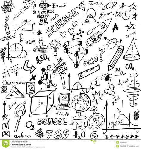 doodle science doodle science stock illustration image 50503482