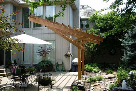 cantilever cedar pergola garden ideas pinterest