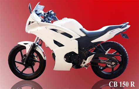 Jalu As Roda Carbon modifikasi cb 150r putih fairing r6 keren mortech