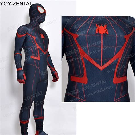 Kaos Civil War Spandex All Size Black high quality black civil war costume black tom spider suit new