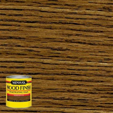 minwax 8 oz wood finish espresso based interior stain 227630000 the home depot