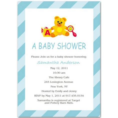 baby shower invitations templates for a boy boy baby shower invitation bs025