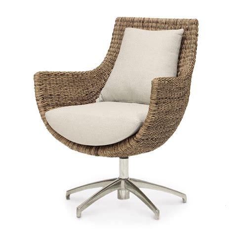 Swivel Wicker Chairs by Palecek Metro Swivel High Back Chair 7732