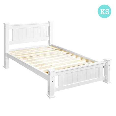 king single size white wooden bed frame buy 30 50 sale