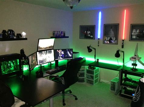 gaming setup cool computer setups and gaming setups