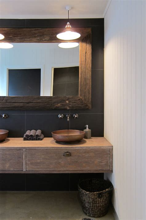 rustic modern bathroom vanity modern bathroom bureaux limited