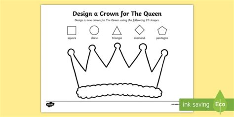 crown template ks2 design a crown for the queen activity sheet worksheet the