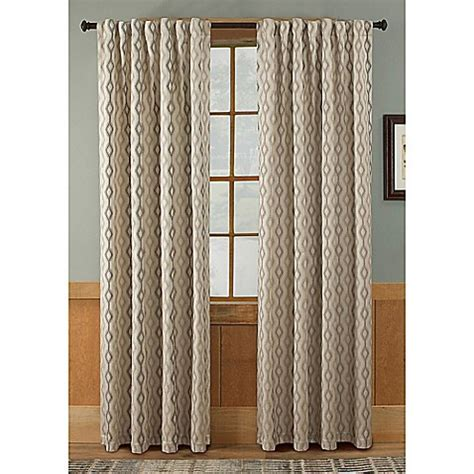 bed bath and beyond tempe tempe rod pocket back tab window curtain panel in taupe bed bath beyond