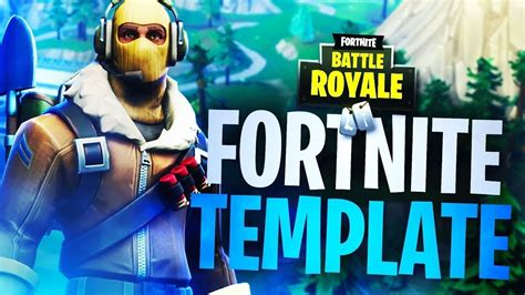 Fortnite Thumbnail Template Quot Raptor Skin Quot Download Youtube Fortnite Template