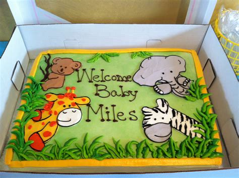 Safari Cakes Baby Shower by