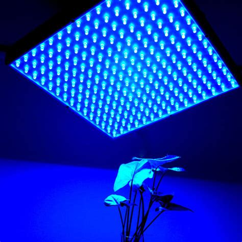Hqrp 225 Blue Led Grow Light Panel For Indoor Grow Green