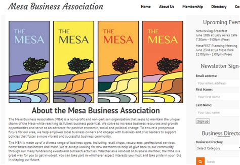 Mba Program For Small Business Owners by Mesa Business Association Sb Creative Content