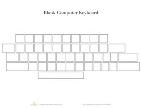 blank keyboard template blank computer keyboard worksheet fioradesignstudio