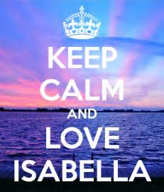 Make Wall Stickers keep calm and love isabella keep calm and carry on image